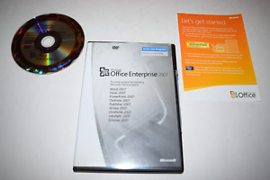 Office Enterprise 2007 Home Use Microsoft PC DVD-ROM Complete w/ Key in Case