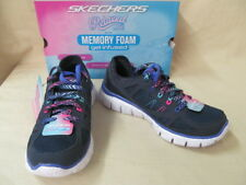Girl's Youth 2.5 M Skechers S Flex Fashion Play Lace Up Tennis Shoes 81650L/NVMT