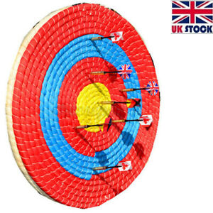 UK Outdoor Sports Archery Shooting Bow Straw Arrow Target Single Layer 55CM