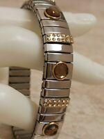Brown topaz Swarovski Gem Silver Bracelet Anniversary Gift Mom Wife Her Handmade