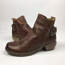 Fly London Womens Ankle Boots Bootie Shoes Brown EU 39 US 8.5