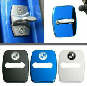 4PCS Stainless Steel Car Door Lock Latches Striker Cover Protector for BMW