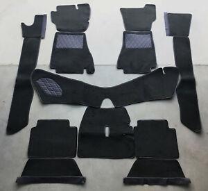 Black velours carpet set / kit for Alfa Romeo Montreal