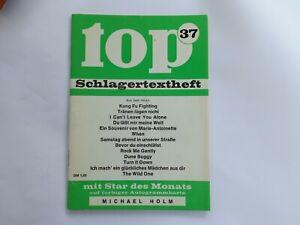 top-Schlagertextheft Nr. 37 mit Autogrammkarte: Michael Holm