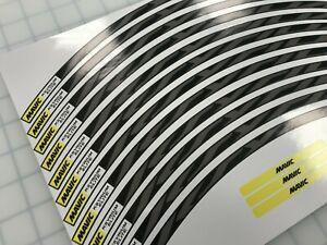 Ksyrium Elite Wheel Decals/Stickers GREY full set (12) for 25mm+ rims
