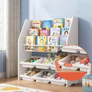 3 Tier Tubs Box Kids Storage Unit with 4/6 Cube Box Children's Bookshelf Toy Box