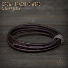 American Bonsai Brown Aluminum Training Wire -  5.0mm - 100 grams - 6ft - 100g