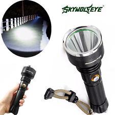 Sky Wolf Eye 5Modi 5000LM Lamp CREE XM-L T6 LED 18650 Torch Zoom Taschenlampe DE