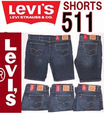 Levi's 511 Men's Slim Fit Denim Stretch Shorts Size 42 Dark Blue