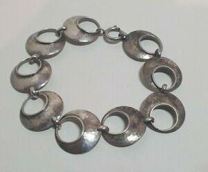 Altes 800 Silber Armband Design Schmuck 60er 70er Jahre