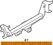 FORD OEM 09-14 F-150 Rear Bumper-Reinforcement 9L3Z17D826A