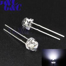 100PCS F5 5mm Straw Hat Superbright LED Light NEW