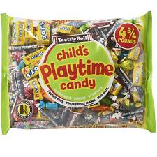 Tootsie Roll ~ Playtime Candy Mix ~ 4 3/4 Pound Bag ~ Parties,Tootsie Pops,Dots