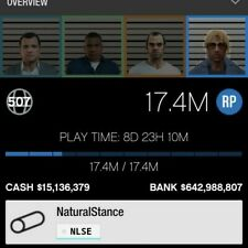 Gta 5 PS4 Account 600M Bank + 1000M on cars and property LVL 506
