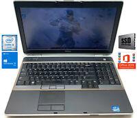 """Dell Latitude Gaming / Business E6520 15.6"""" F-HD Laptop 512GB SSD 8GB Win10 Pro"""