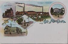 29744 AK Gruß aus GROSS-MOCHBERN Muchobór Wielki Breslau Zucker-Fabrik Warenhaus