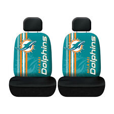 Football Miami Dolphins Low Back Front Seat Covers Universal Fit LA Pair