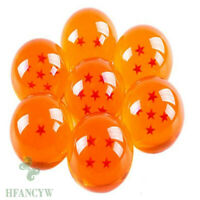 7pcs Anime DragonBall Z Stars Crystal blue Ball Collection Set Durable