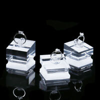 3/set Clear Acrylic Jewelry Rings Display stand showcase makeup Holder Organizer