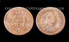 Liard de France 1656 D (Lyon). 2°Type. Louis XIV°. Cuivre