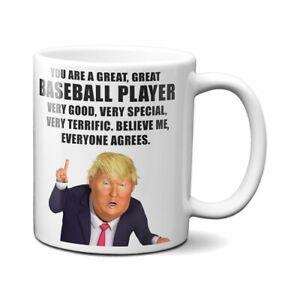 PRESIDENT DONALD TRUMP BASEBALL PLAYER COFFEE MUG