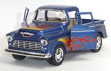 1955 Chevrolet 3100 Pick-Up Sammlermodell 1:32 Stepside blau KINSMART Neuware