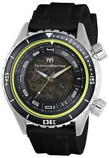 TechnoMarine Men's Manta TM-218001 47mm Black Dial Silicone Watch