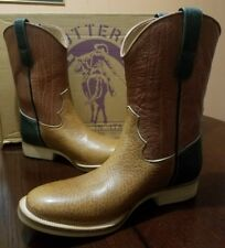 Buttero Men Soft Bull Hide Western Cowboy Boots Size US 10.5, EUR 44 *ITALY Made