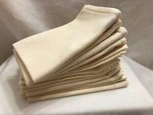 Dinner Table Napkins Cotton Kitchen Cloth Ivory 11 lot Pack 15x15