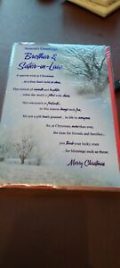 Christmas Card Seasons Greetings Brother & Sister In Law By Snowflakes greeting