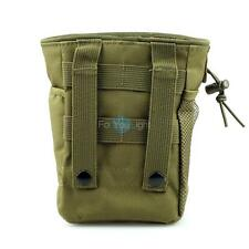 Small Airsoft Molle Tactical Magazine Mag DUMP Ammo Drop Utility Pouch Bag OD