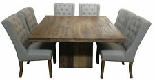 Square Rustic Recycled Elm Wood Dining Table  140x140x 76cm high ,square dining