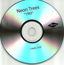 NEON TREES 1983 w/ RARE RADIO Version 2010 USA PROMO DJ CD single