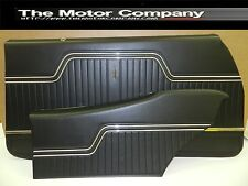 1970 1971 1972 Chevelle Front & Rear Coupe Interior Door Panels In black J-7000