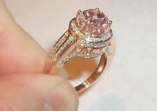 Pink Morganite (0.75ct) & Diamond (.70ct) 14K Rose Gold Ring
