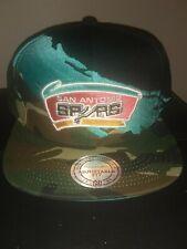 NWT MITCHELL & NESS San Antonio Spurs camo paintbrush snapback woodland hat cap