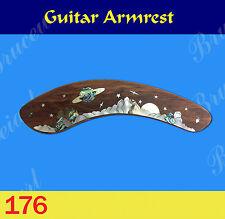 Free Shipping, Guitar Part - Armrest  W/ Mop Art Inlay (G-176-1)
