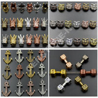 Solid Metal Crown,Owl,Fox, Anchor Bracelet Connector Spacer Charm Loose Beads