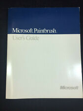 VINTAGE 1989 MICROSOFT PAINTBRUSH USER'S GUIDE