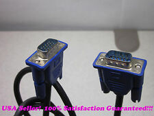 6 FT HD15 Male to Male VGA Blue Connector TV Monitor Cable for PC or Laptop