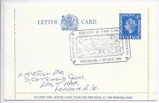 GB Special annuler lettre carte h&b LCP24; FED. timbre clubs Convention 1/10/66