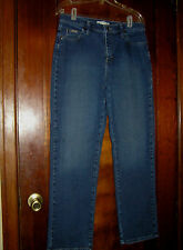 LEE RELAXED STRAIGHT LEG AT WAIST STRETCH COTTON JEANS 3051854 SZ 8 8M 0717
