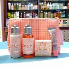 25%OFF NEW L'Occitane Cherry Blossom Discovery Set Soap Gel Body Lotion Lip Balm