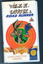 WILE E.COYOTE & ROAD RUNNER -RARO SET DI TRE VHS WARNER DEL 1990