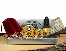 Beard Grooming Gift Set, Mustache Wax,Beard Balm, Oil,Comb - Whiskey on Rocks