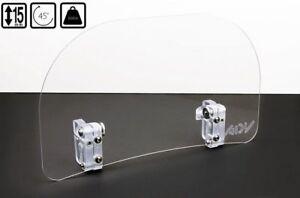 UNIVERSAL Windscreen deflector clear windshield windscreen motorbike 25x15cm *T3