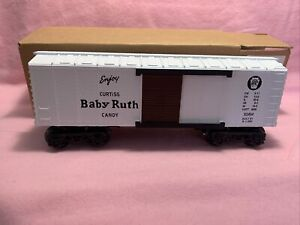 "K-Line K-515402 Pennsylvania ""Baby Ruth"" (White) 0-27 Box Car BNIB"