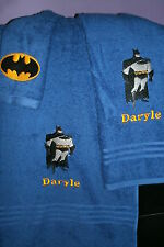Batman Personalized 3 Piece Bath Towel Set Super Hero Batman Your Color Choice