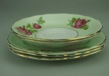 Lot of 5 Plates Vintage Colclough Pink Roses Pattern 6671 Made in England KC575