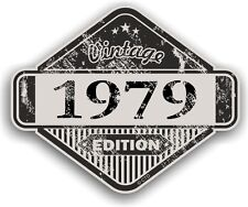 Aged Distressed Vintage Edition Yr 1979 Retro Cafe Racer Motorcycle car sticker